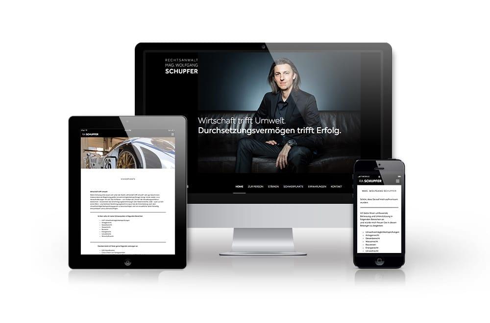 Webdesign Beispiel: Logodesign, Corporate Design, Responsive Webdesign, WordPress für Rechtsanwalt Graz