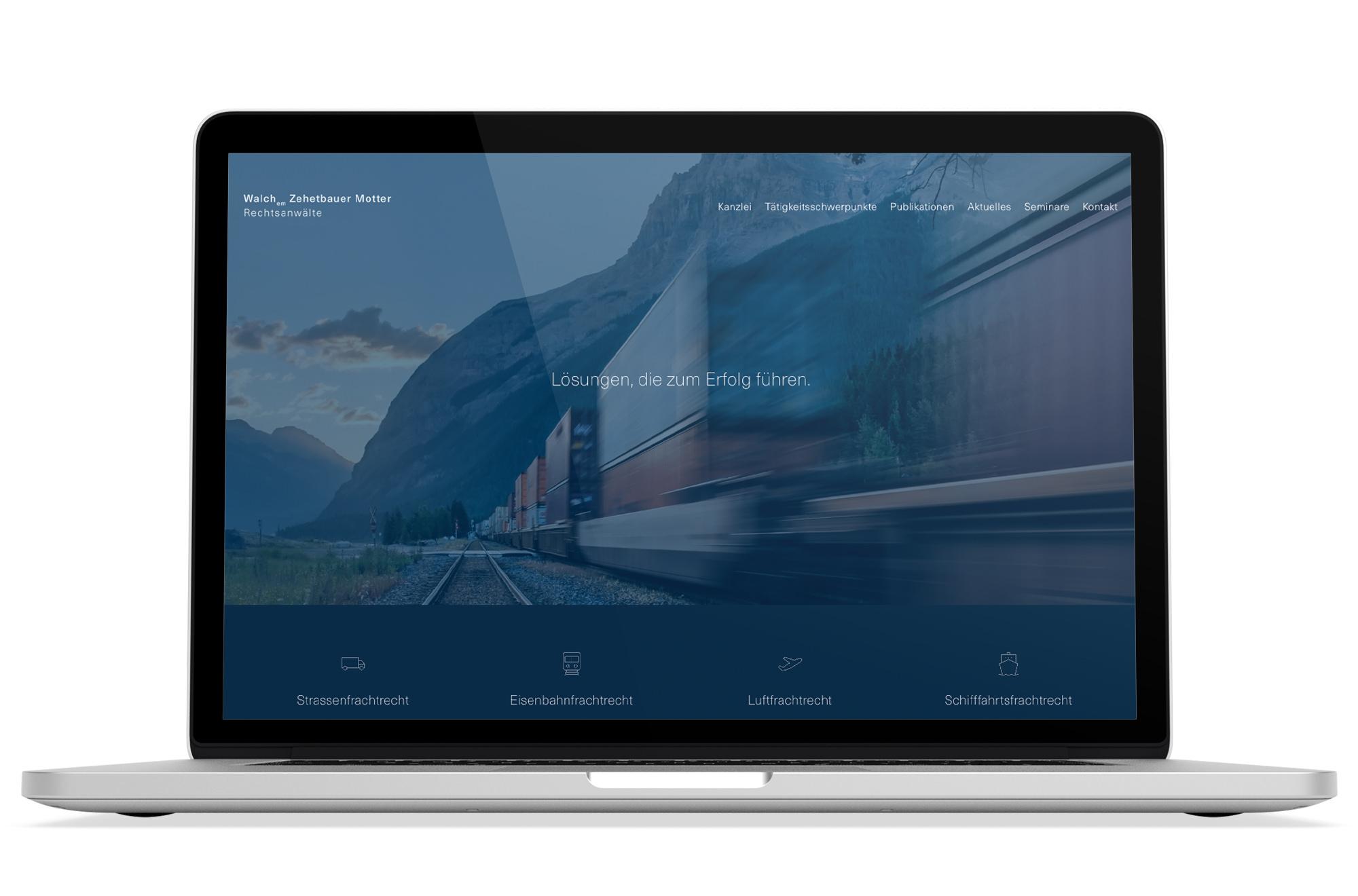 Webdesign Beispiel: Responsive Webdesign, WordPress für Anwalt für Transportrecht in Wien