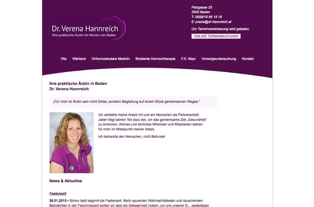 Webdesign Beispiel: Responsive Webdesign, WordPress für Arzt / Ordination