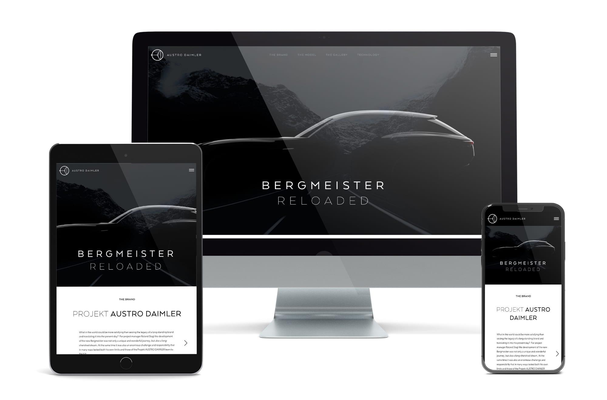 Webdesign Beispiel: Neue Website für Automotive & Technologie