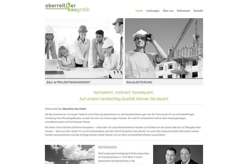 Webdesign Beispiel: Logodesign, Corporate Design, Webdesign für Baufirma in Wien