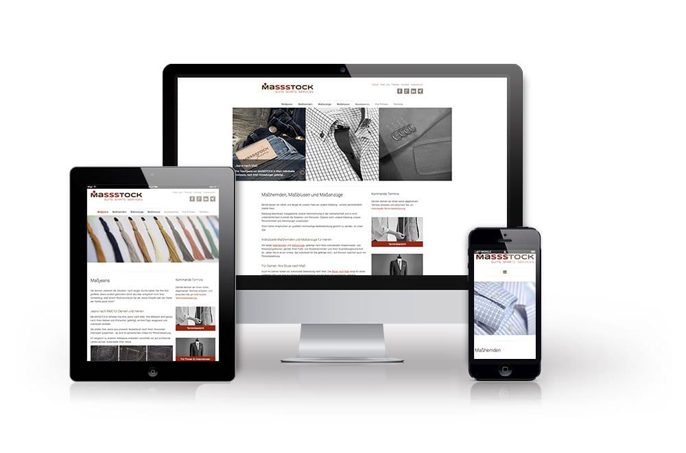 Webdesign Beispiel: Logodesign, Corporate Design, Responsive Webdesign, WordPress für Maßbekleidung