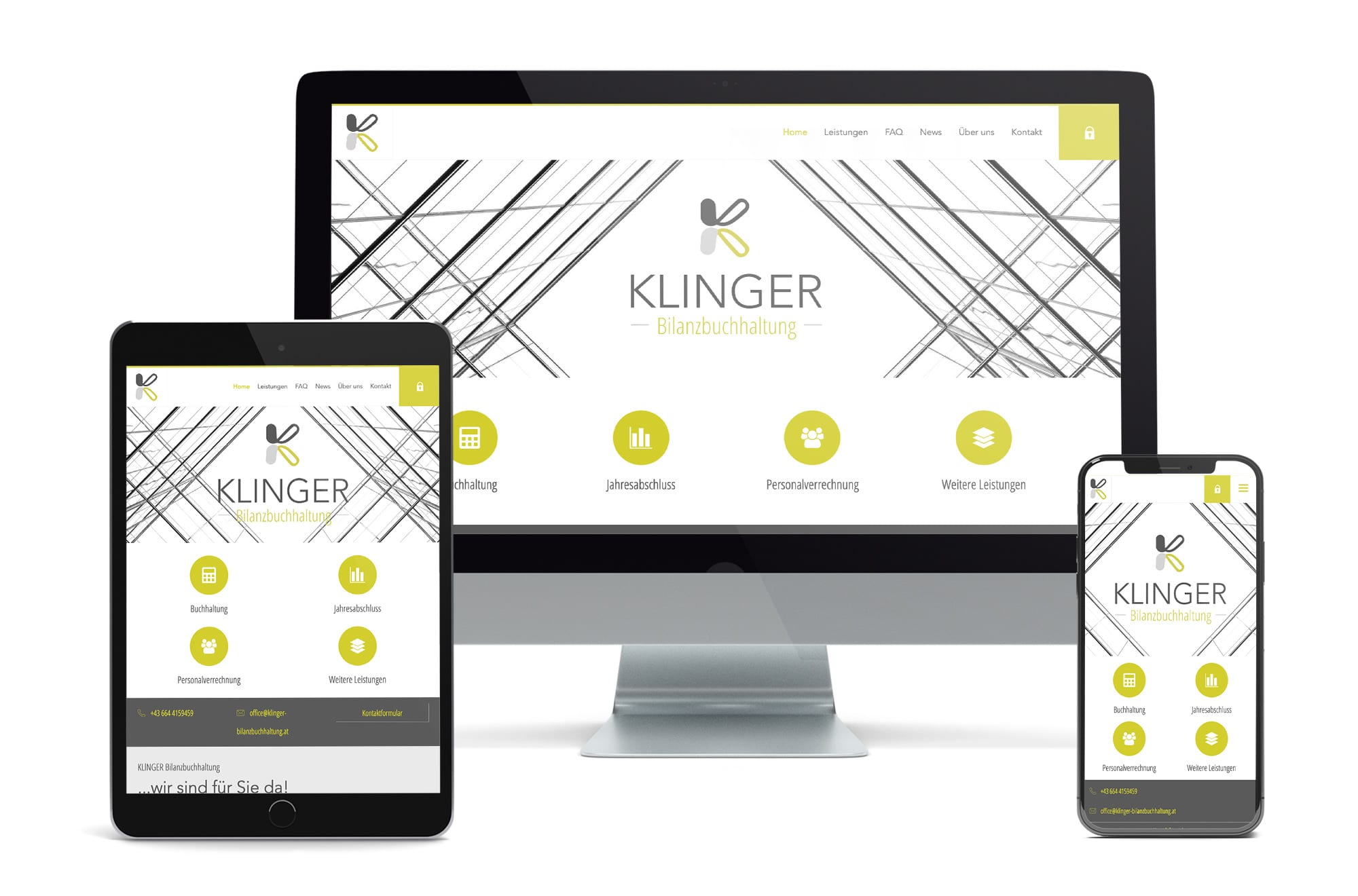 Webdesign Beispiel: Neue Website für Bilanzbuchhalterin Gänserndorf, Wolkersdorf