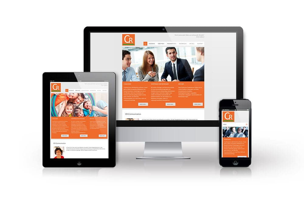 Webdesign Beispiel: Responsive Webdesign, WordPress für CR-Communication