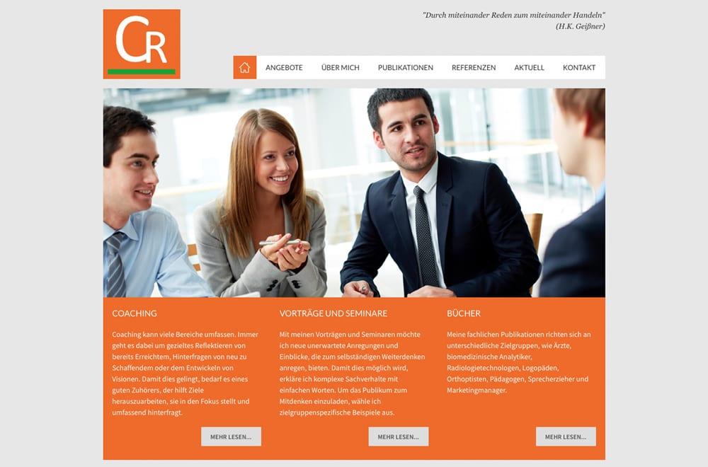 Webdesign Beispiel: Responsive Webdesign, WordPress für Seminare, Vorträge & Coaching