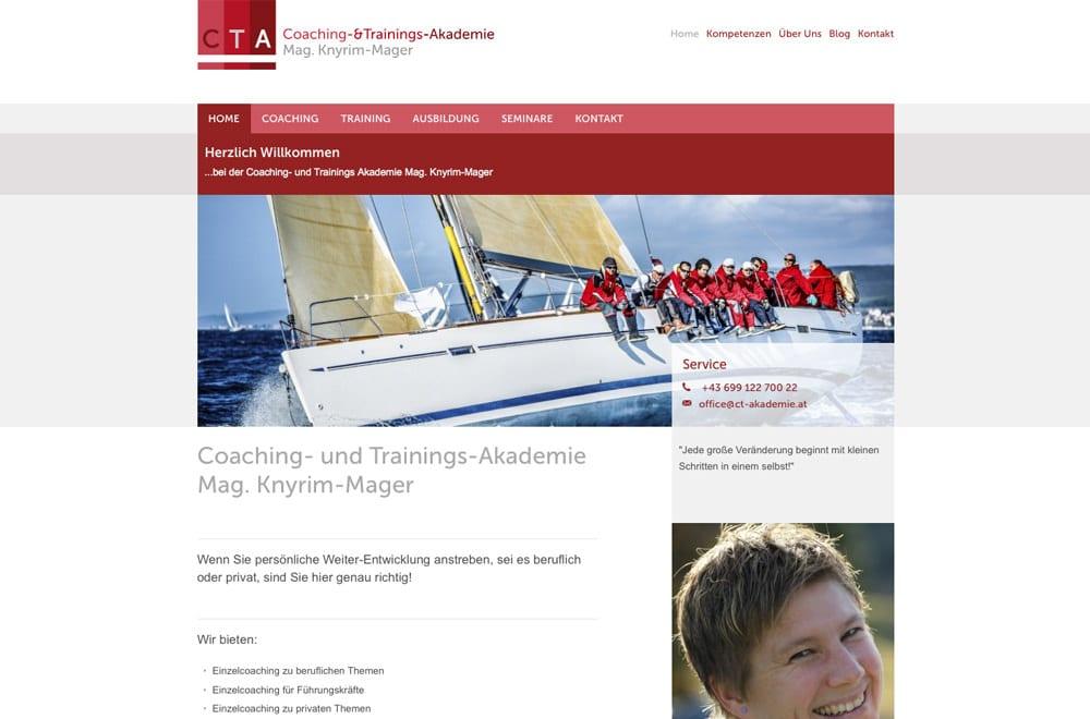 Responsive Webdesign Beispiel: Neue mobile Webseite für Coaching, Training & Ausbildung