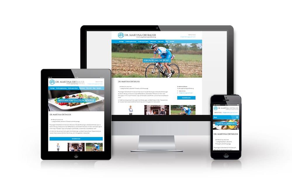 Webdesign Beispiel: Responsive Webdesign, WordPress für Ernährungsberatung