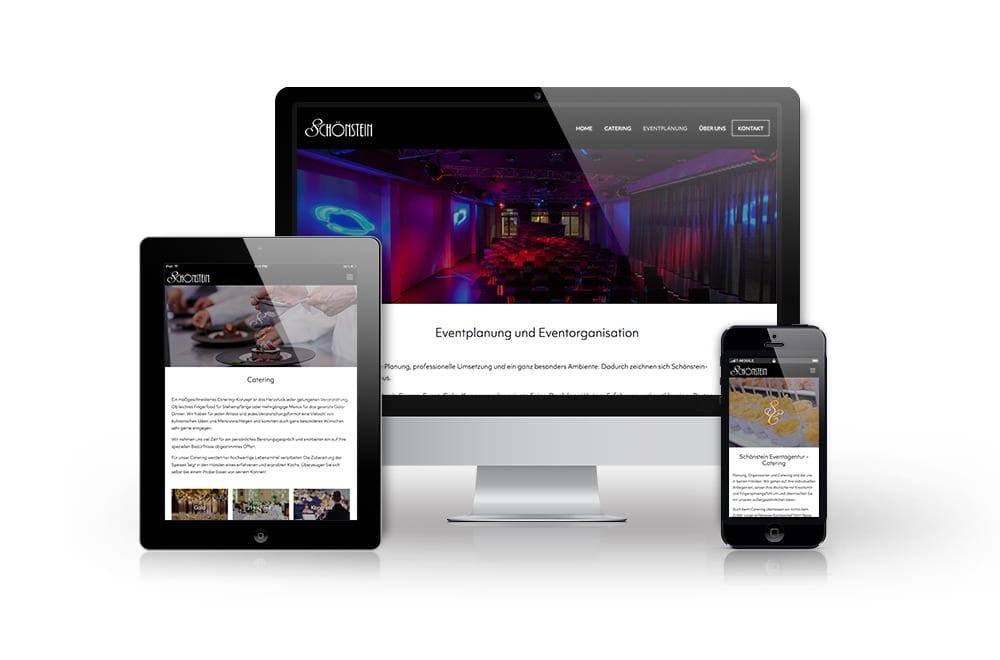 Webdesign Beispiel: Neue Website für Event & Catering
