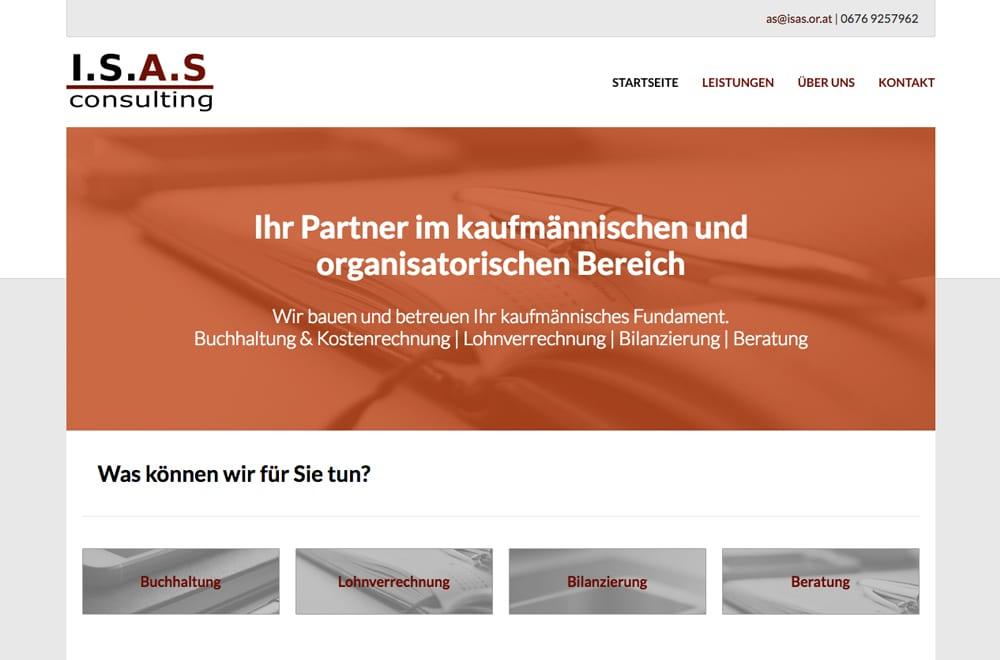 Webdesign Beispiel: Responsive Webdesign, WordPress für Buchhaltung