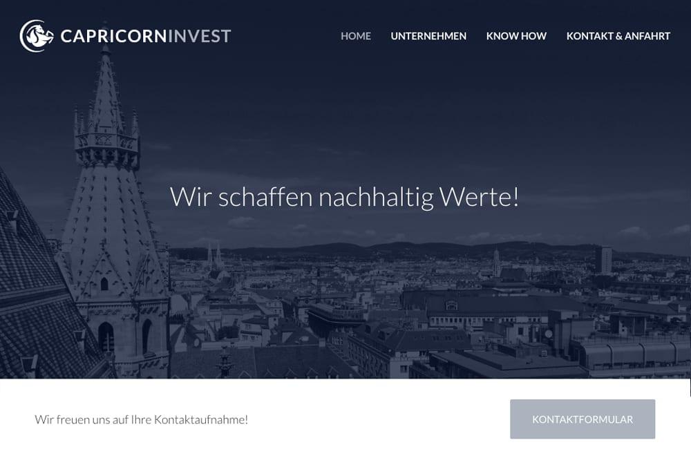 Webdesign Beispiel: Logodesign, Corporate Design, Responsive Webdesign, WordPress für Investment