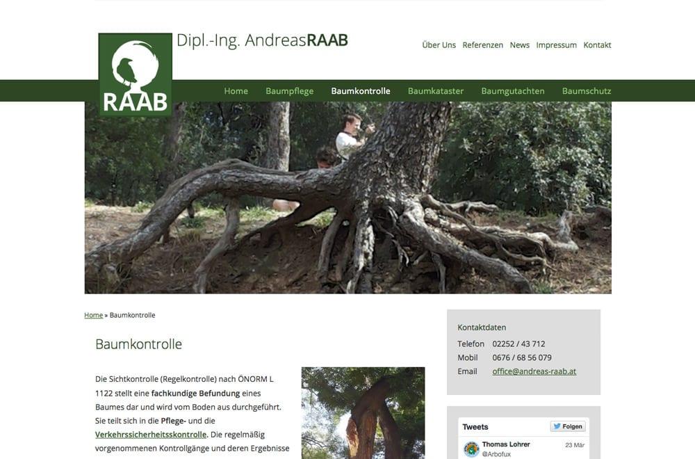 Responsive Webdesign Beispiel: Neue mobile Webseite für Landschaftsplanung, Landschaftsarchitektur