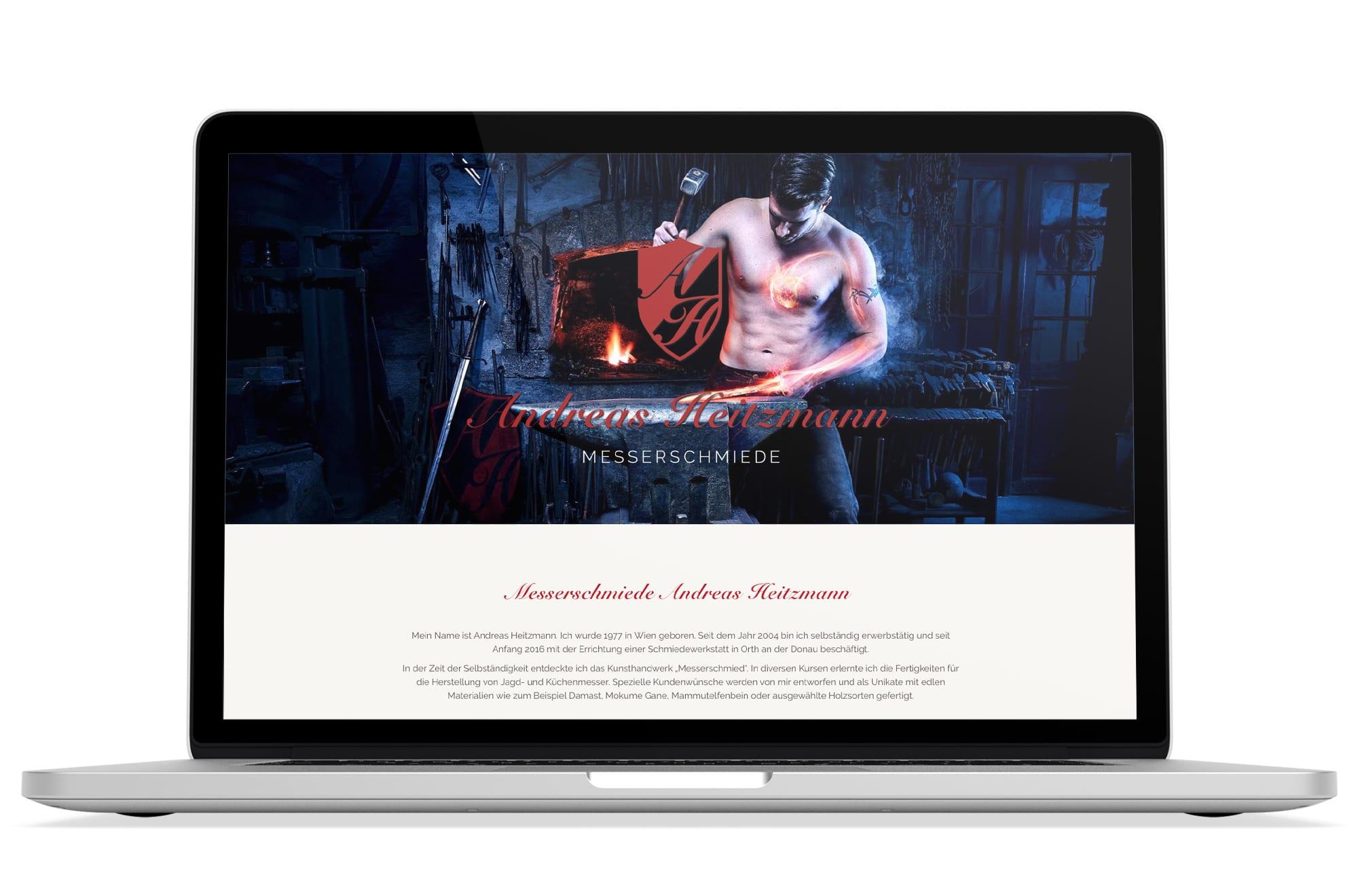 Webdesign Beispiel: Corporate Design, Responsive Webdesign für Schmiede und Schmiedekurse Wien