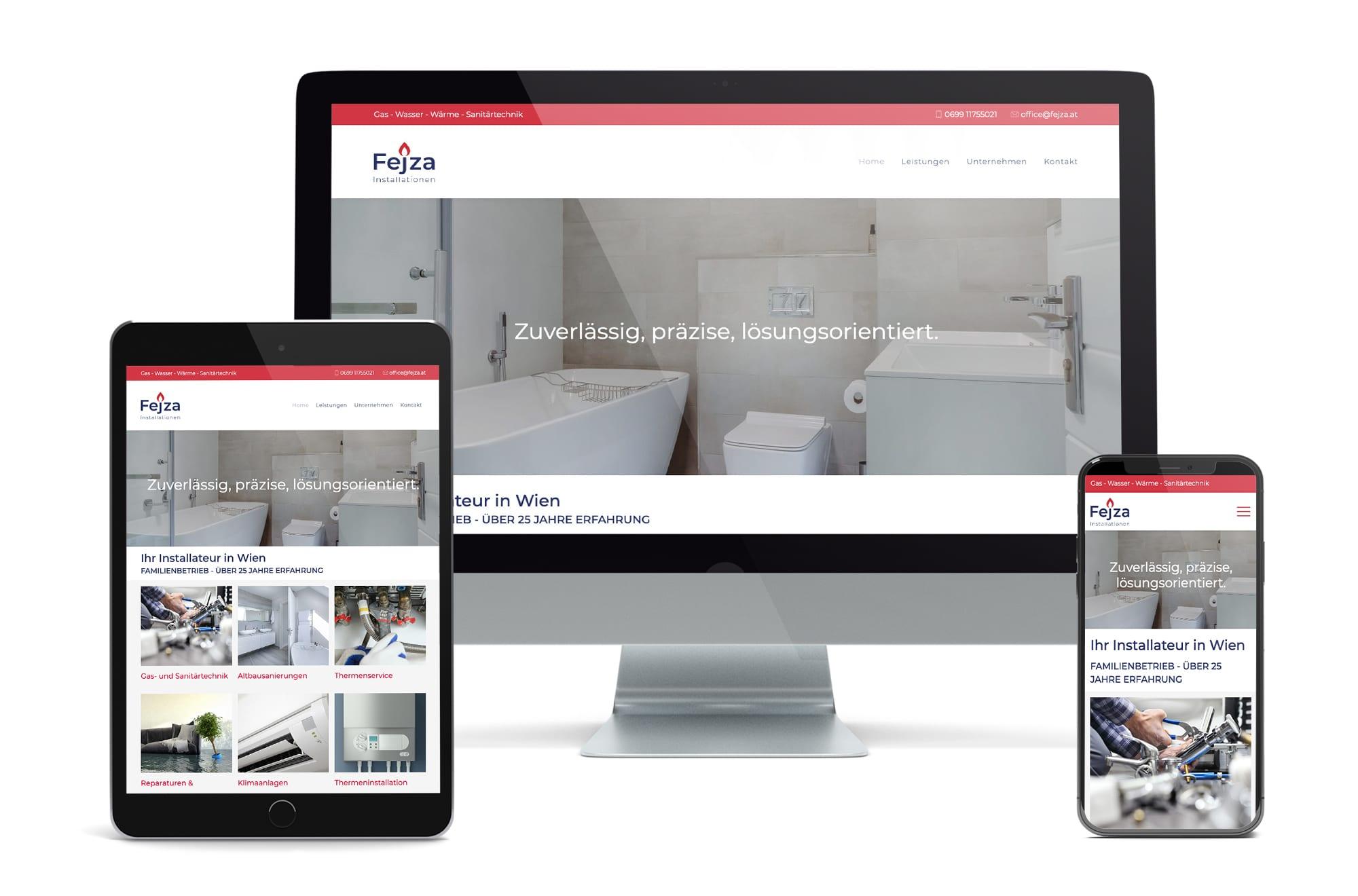 Webdesign Beispiel: Neue Website für Installationen 1230 Wien