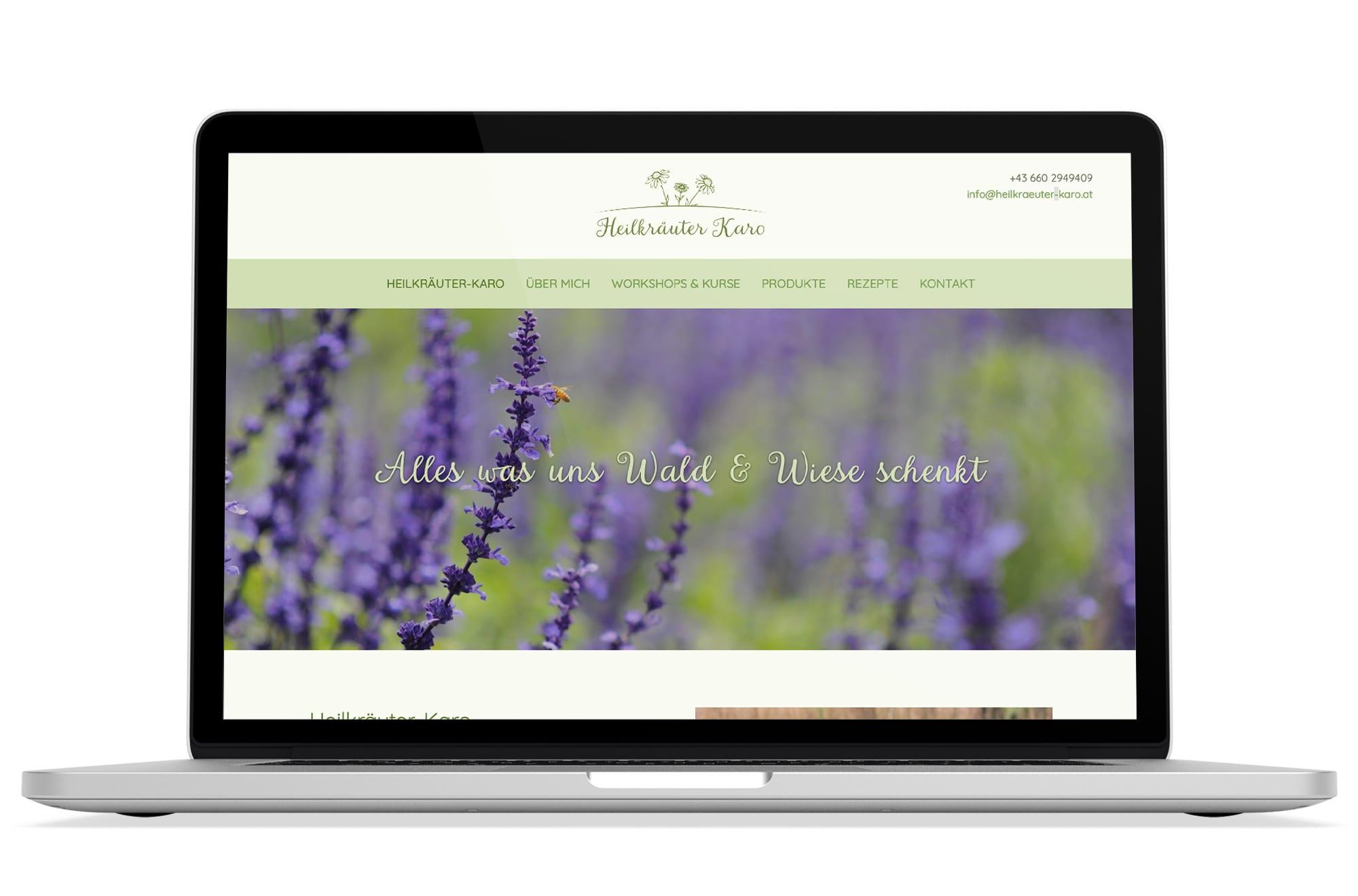 Webdesign Beispiel: Logodesign, Responsive Webdesign, WordPress für Kräuterwanderungen in Wien