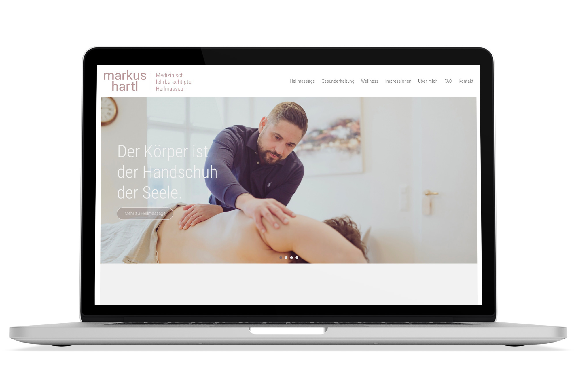 Webdesign Beispiel: Logodesign, Responsive Webdesign, SEO für Massage 1060 Wien