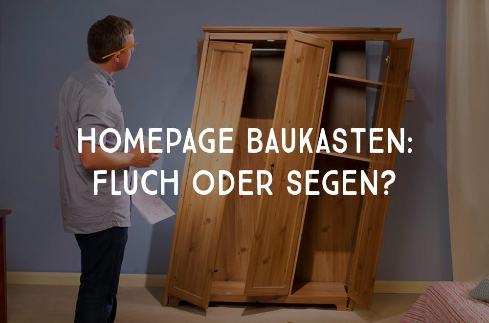 Illustration: Homepage-Baukasten: Fluch oder Segen?