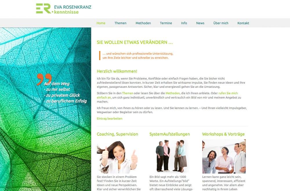 Beispiel: Logo, Corporate Design, Webdesign, Content Management System
