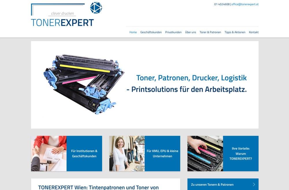 Webdesign Beispiel: Responsive Webdesign, WordPress für Drucker-Toner & Patronen Wien