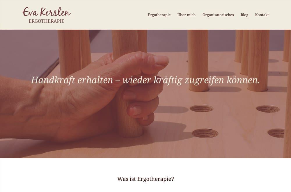 Beispiel: Logodesign, Corporate Design, Responsive Webdesign, WordPress