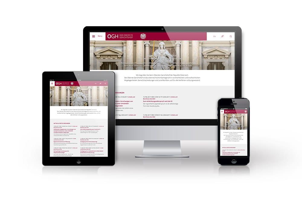 Rechtsanwalt & Anwaltskanzlei: Homepage & Webdesign Wien 1