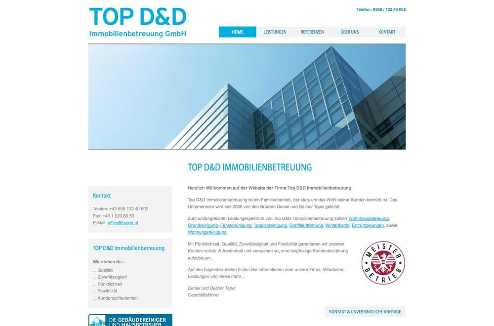 Webdesign Beispiel: Logodesign, Corporate Design, WordPress, Webdesign für Immobilien-Betreuung / Reinigung