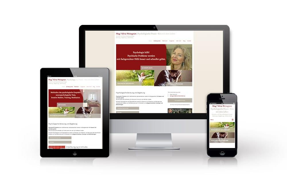 Beispiel: Corprate Design, Mobiles Webdesign, WordPress