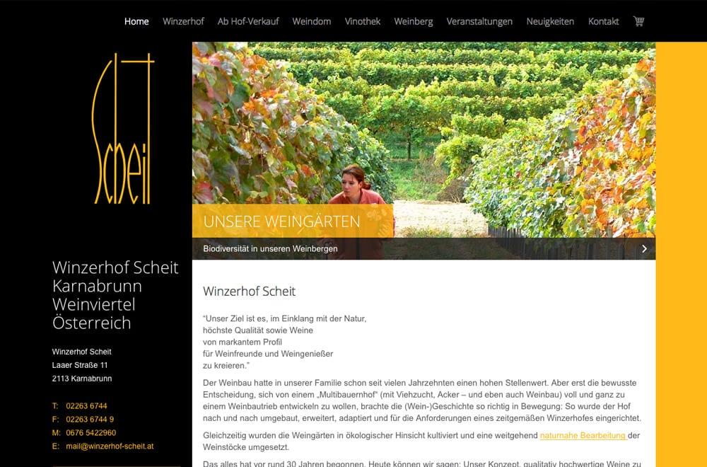 Webdesign Beispiel: Responsive Webdesign, WordPress, Onlineshop für Winzer & Weinbau