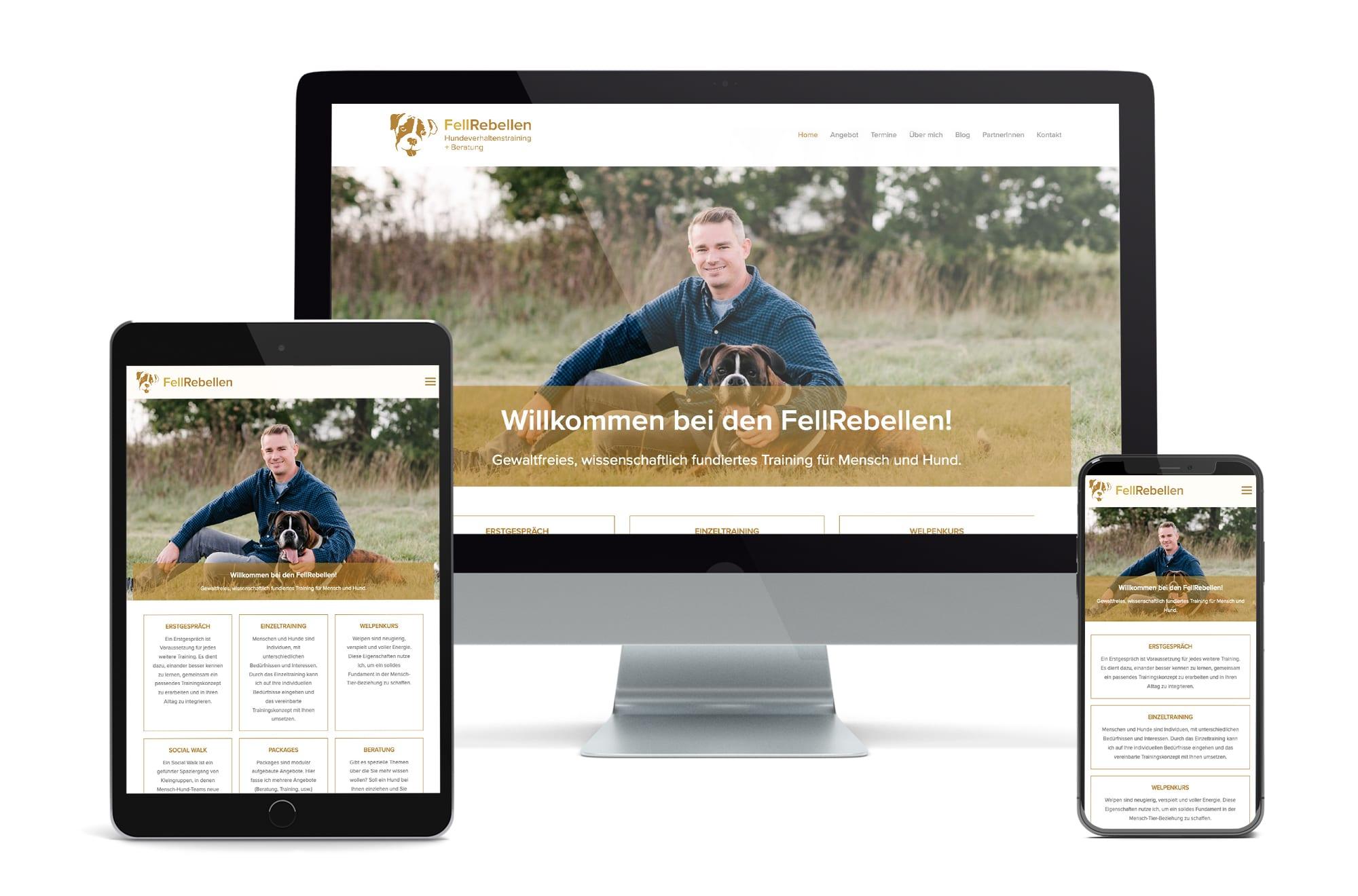 Webdesign Beispiel: Neue Website für Hundeschule Wien und Hundetraining Wien