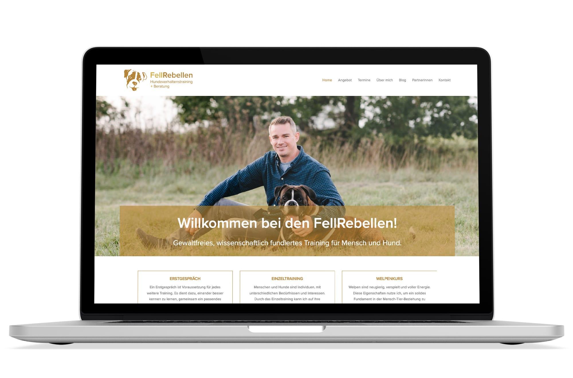 Webdesign Beispiel: Logodesign, Responsive Webdesign, WordPress für Hundeschule Wien und Hundetraining Wien