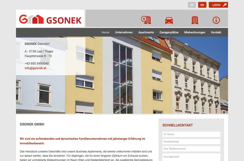 Webdesign Beispiel: Logodesign, Corporate Design, WordPress, Mobiles Webdesign für Immobilien Wien