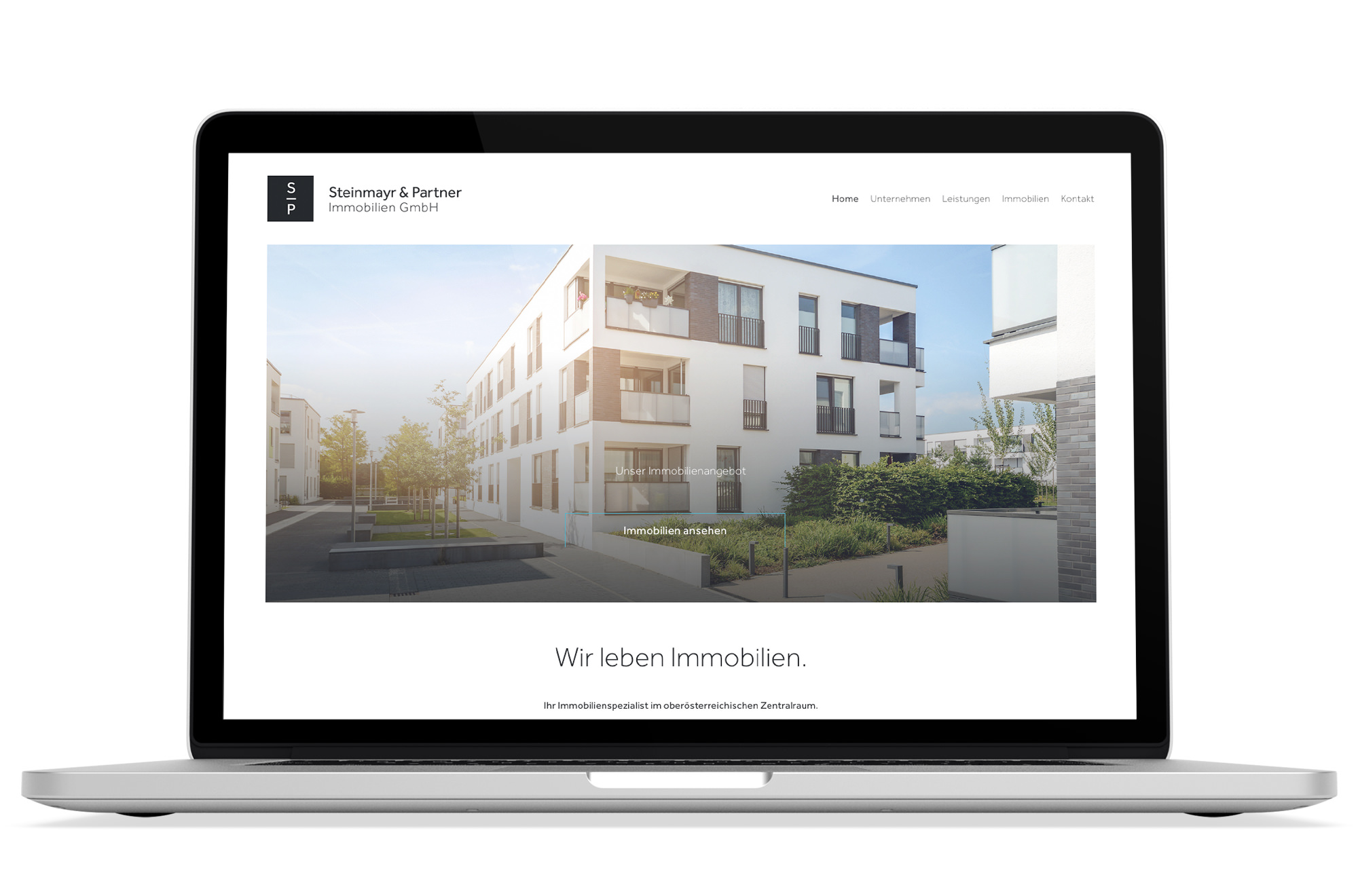 Webdesign Beispiel: Logodesign, Responsive Webdesign für Immobilienmakler