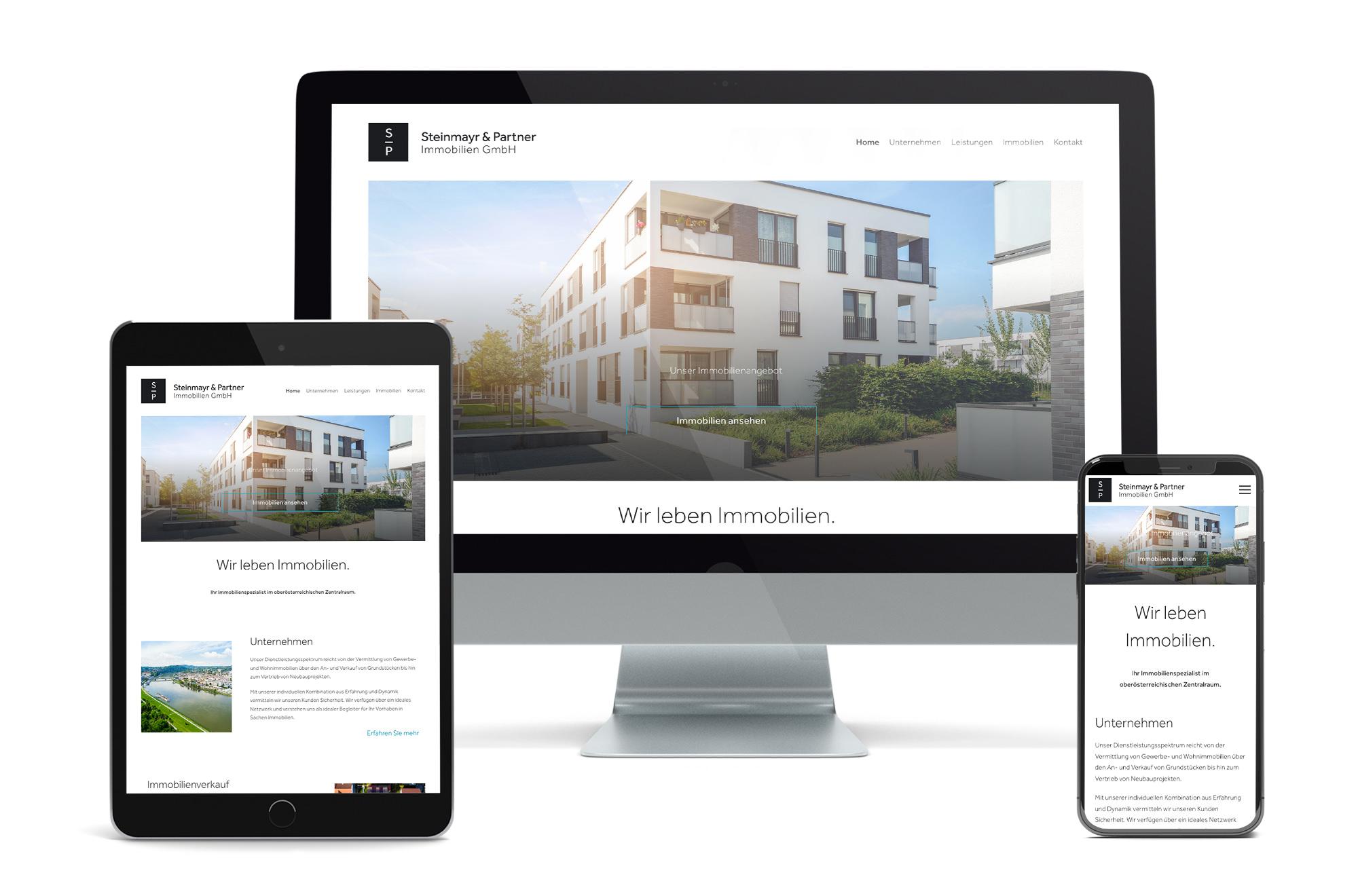 Webdesign Beispiel: Neue Website für Immobilienmakler