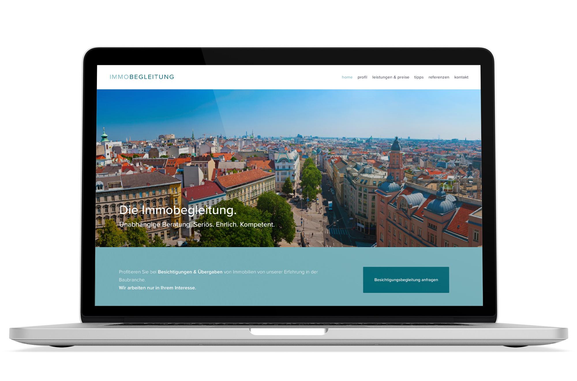 Webdesign Beispiel: Logodesign, Responsive Webdesign für Immobilien