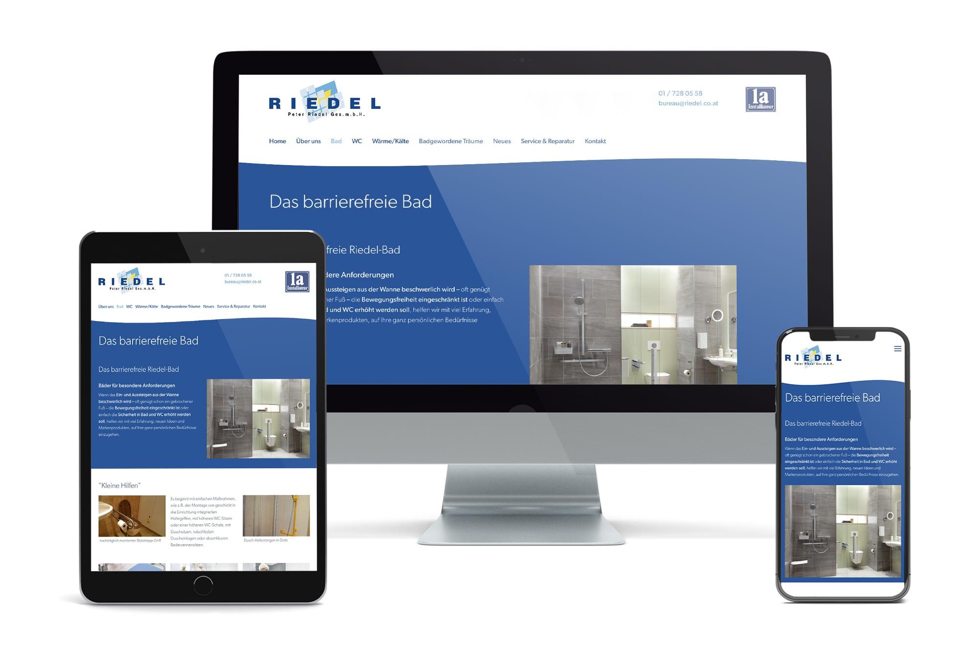 Webdesign Beispiel: Neue Website für Installateur
