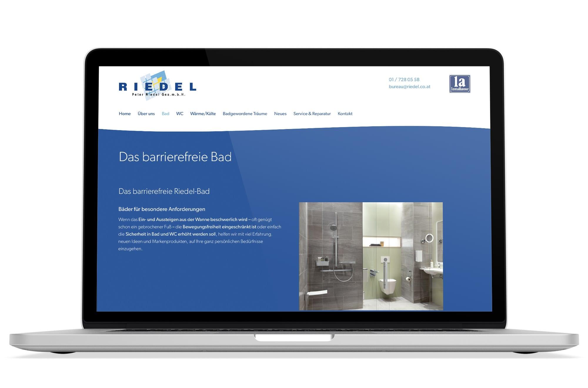 Webdesign Beispiel: Responsive Webdesign, WordPress für Installateur