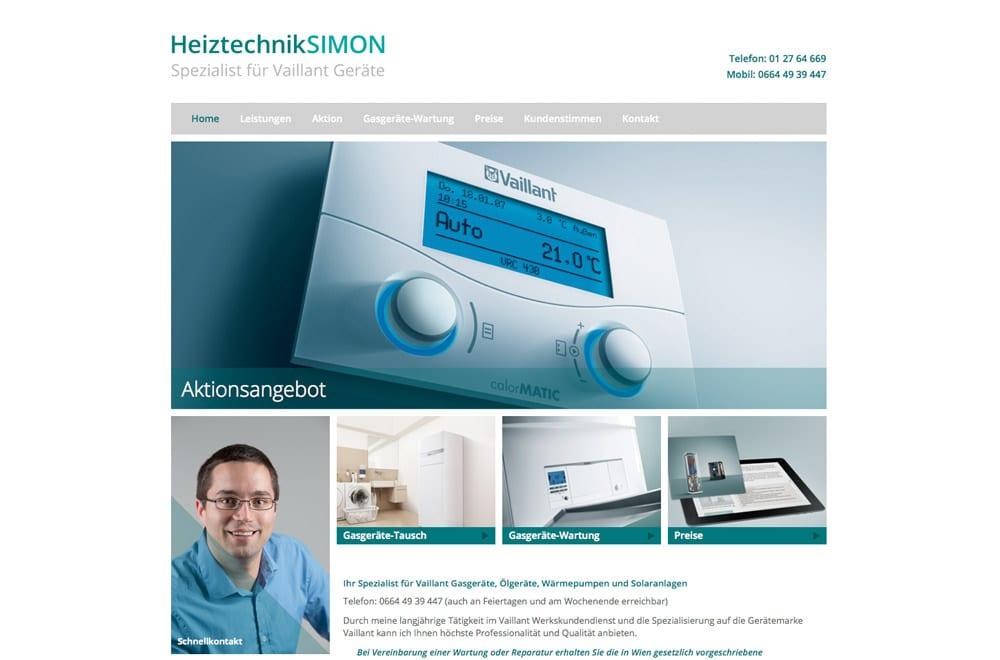 Webdesign Beispiel: Logodesign, Corporate Design, Responsive Webdesign, Printdesign für Installateur in Wien