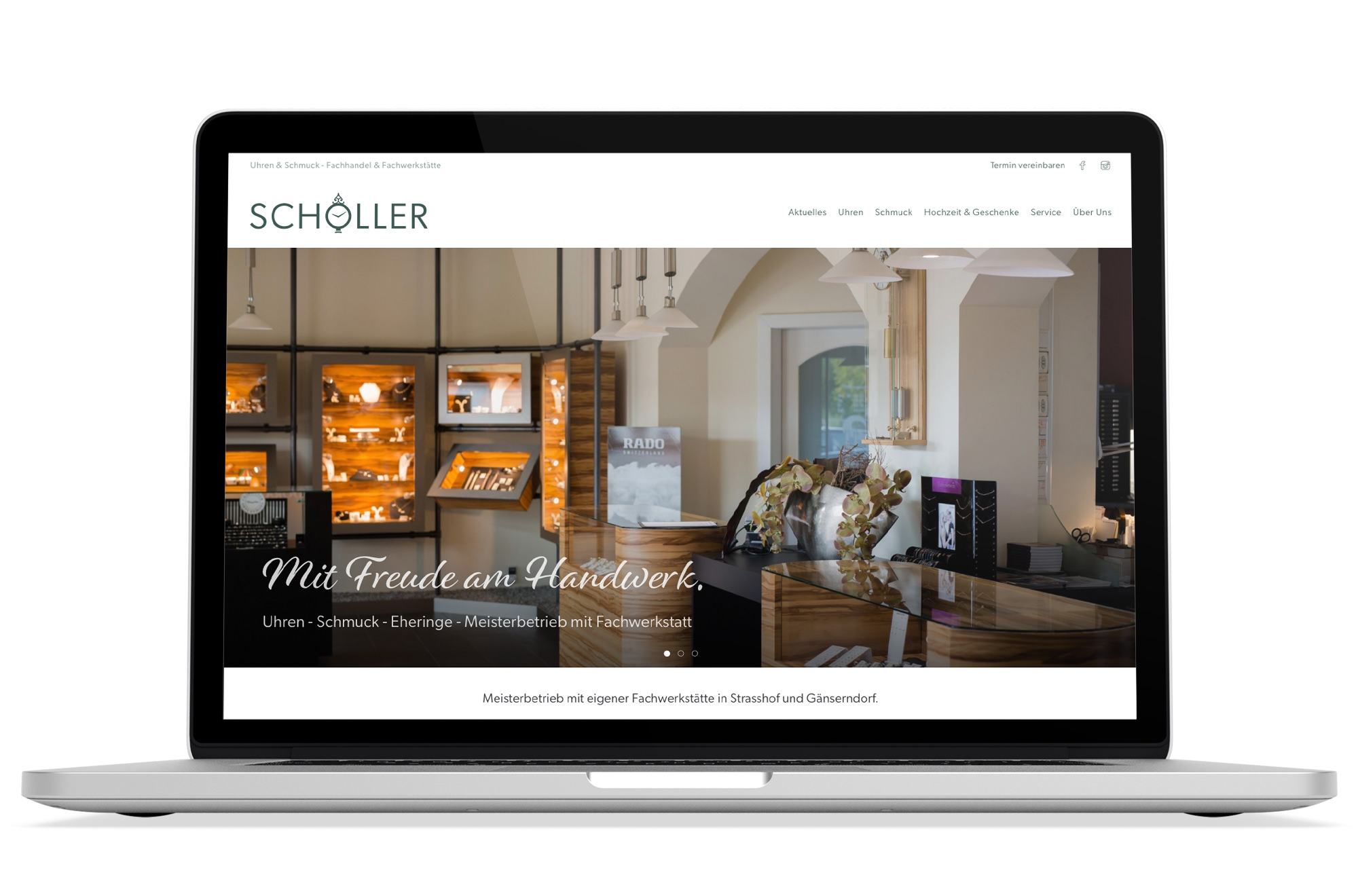 Responsive Webdesign Beispiel: Neue mobile Webseite für Juwelier - Uhren & Schmuck