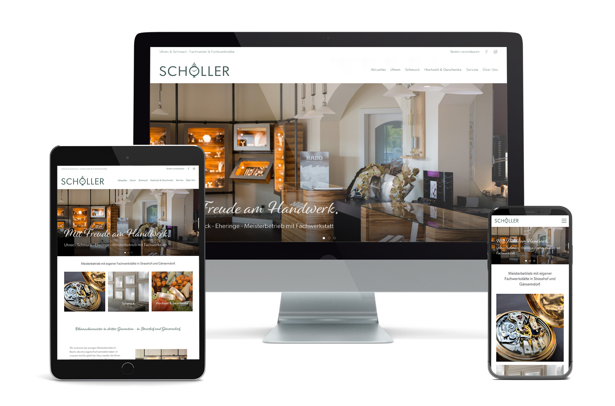 Webdesign Beispiel: Neue Website für Juwelier - Uhren & Schmuck