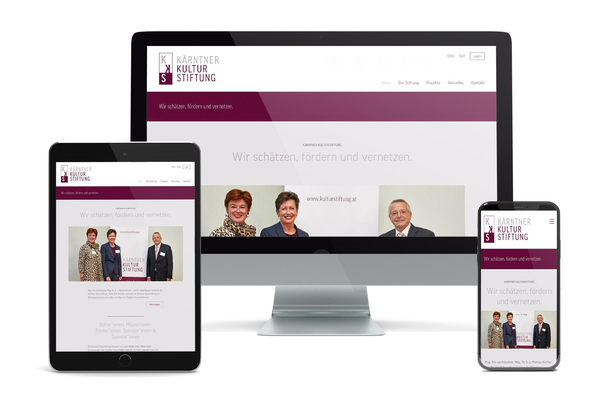 Webdesign Beispiel: Neue Website für Kulturstiftung