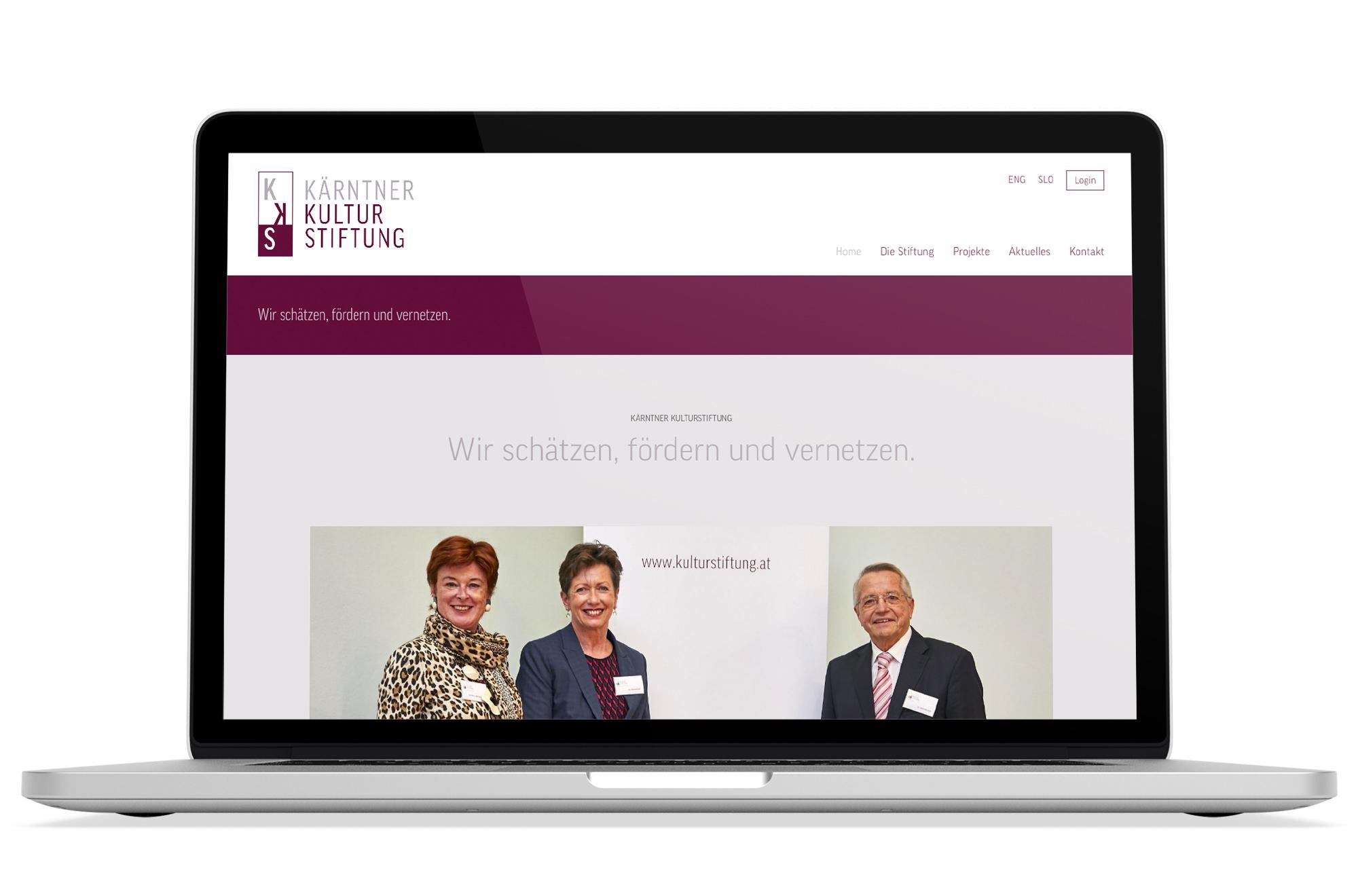 Webdesign Beispiel: Logodesign, Corporate Design, Responsive Webdesign für Kulturstiftung