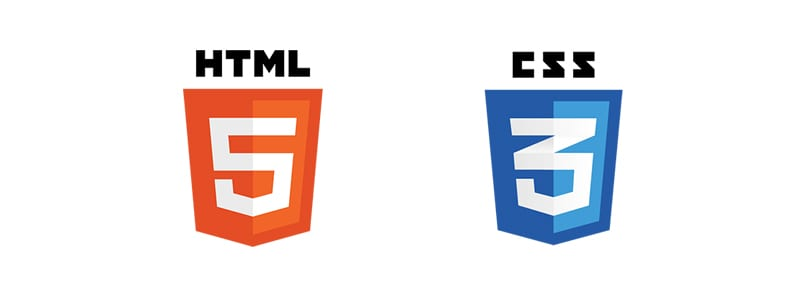 Logos: HTML5, CSS3