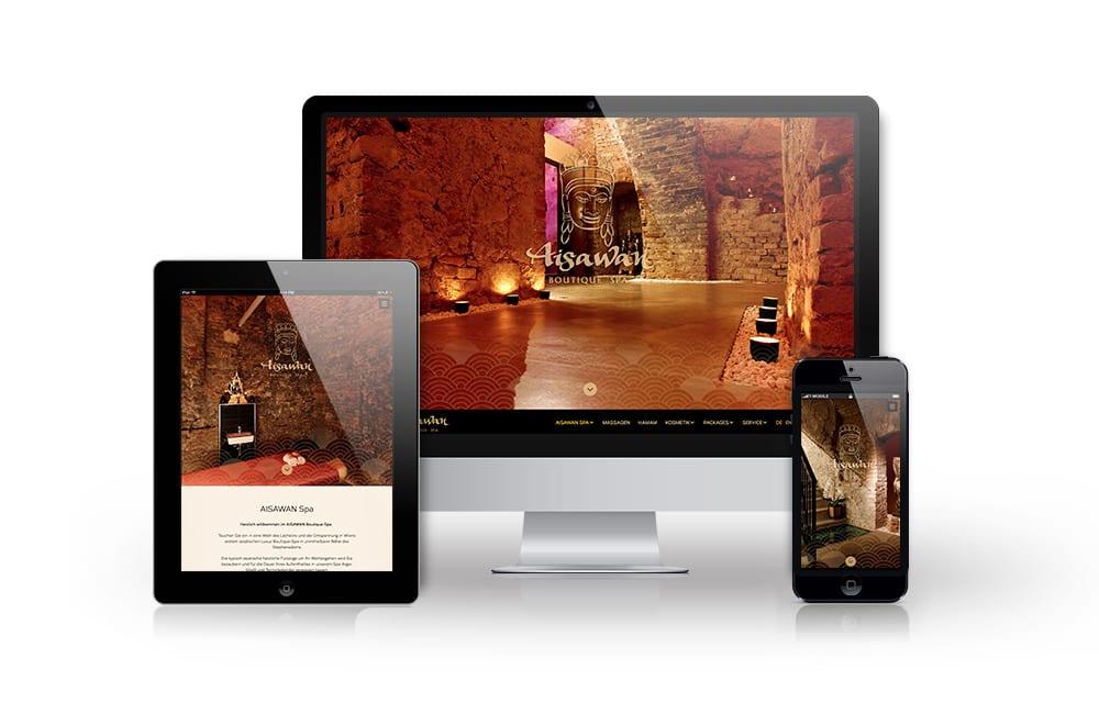 Webdesign Beispiel: Neue Website für Spa & Wellnes