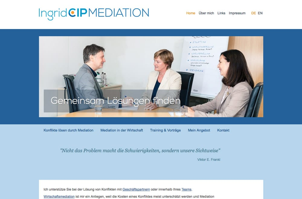 Webdesign Beispiel: Responsive Webdesign für Unternehmensberatung