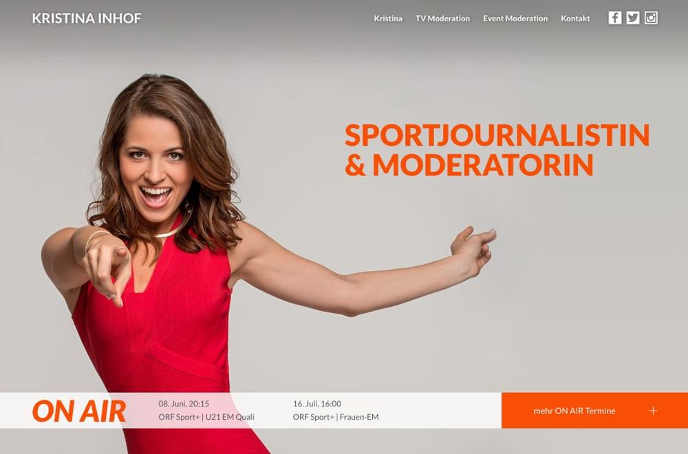 Responsive Webdesign Beispiel: Neue mobile Webseite für Moderation