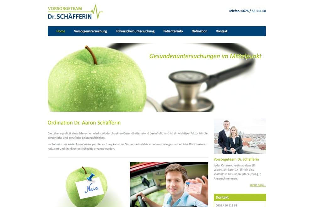 Webdesign Beispiel: Webdesign für Arzt / Ordination