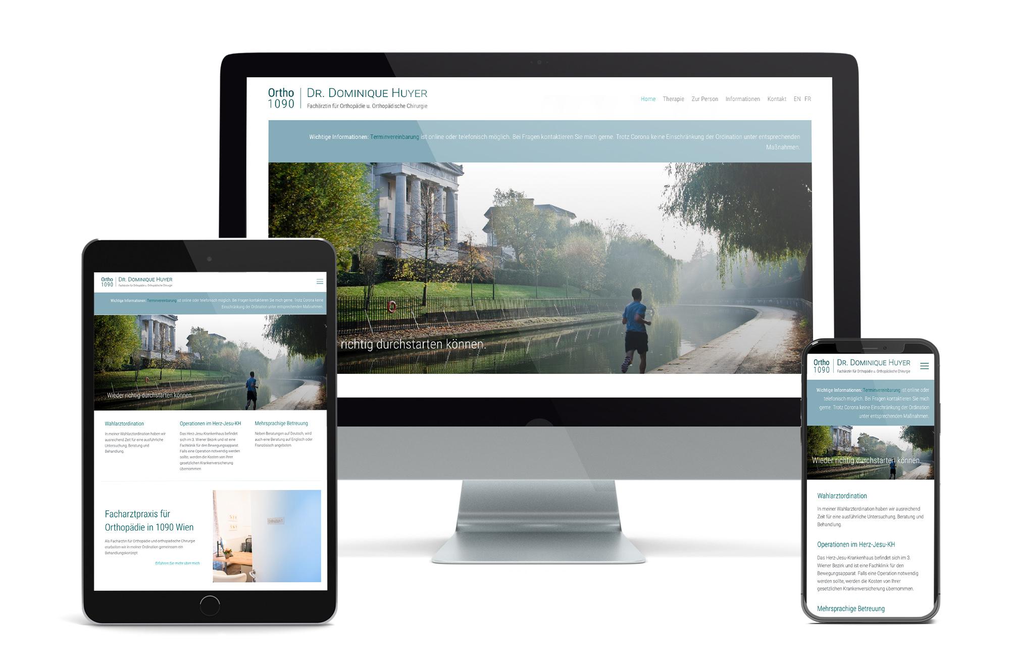 Webdesign Beispiel: Neue Website für Facharzt für Orthopädie