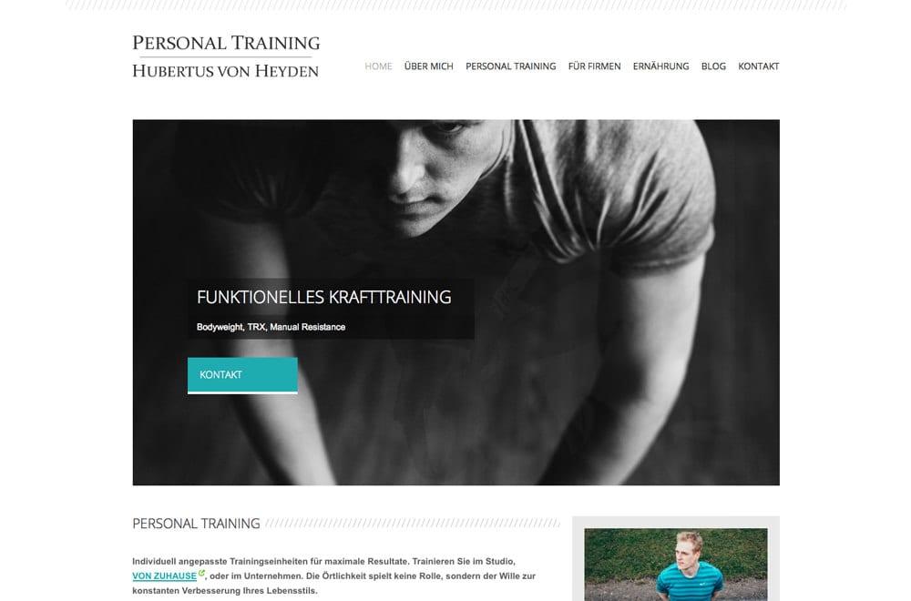 Webdesign Beispiel: Responsive Webdesign, WordPress für Personal Training