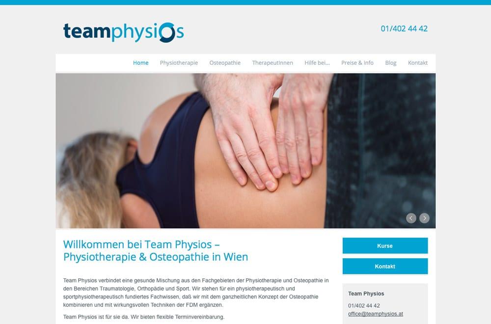Webdesign Beispiel: Logodesign, Corporate Design, Responsive Webdesign für Physiotherapie in Wien