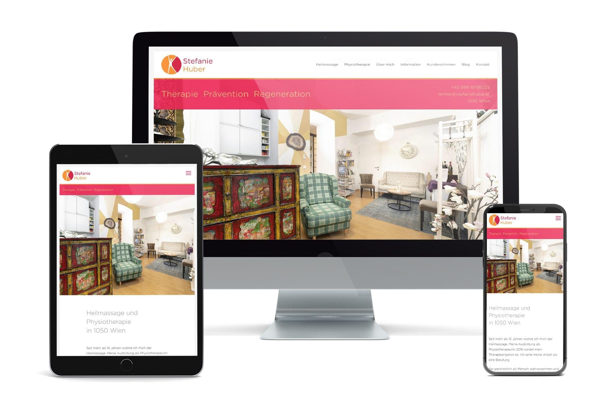 Webdesign Beispiel: Neue Website für Physiotherapeutin in Wien
