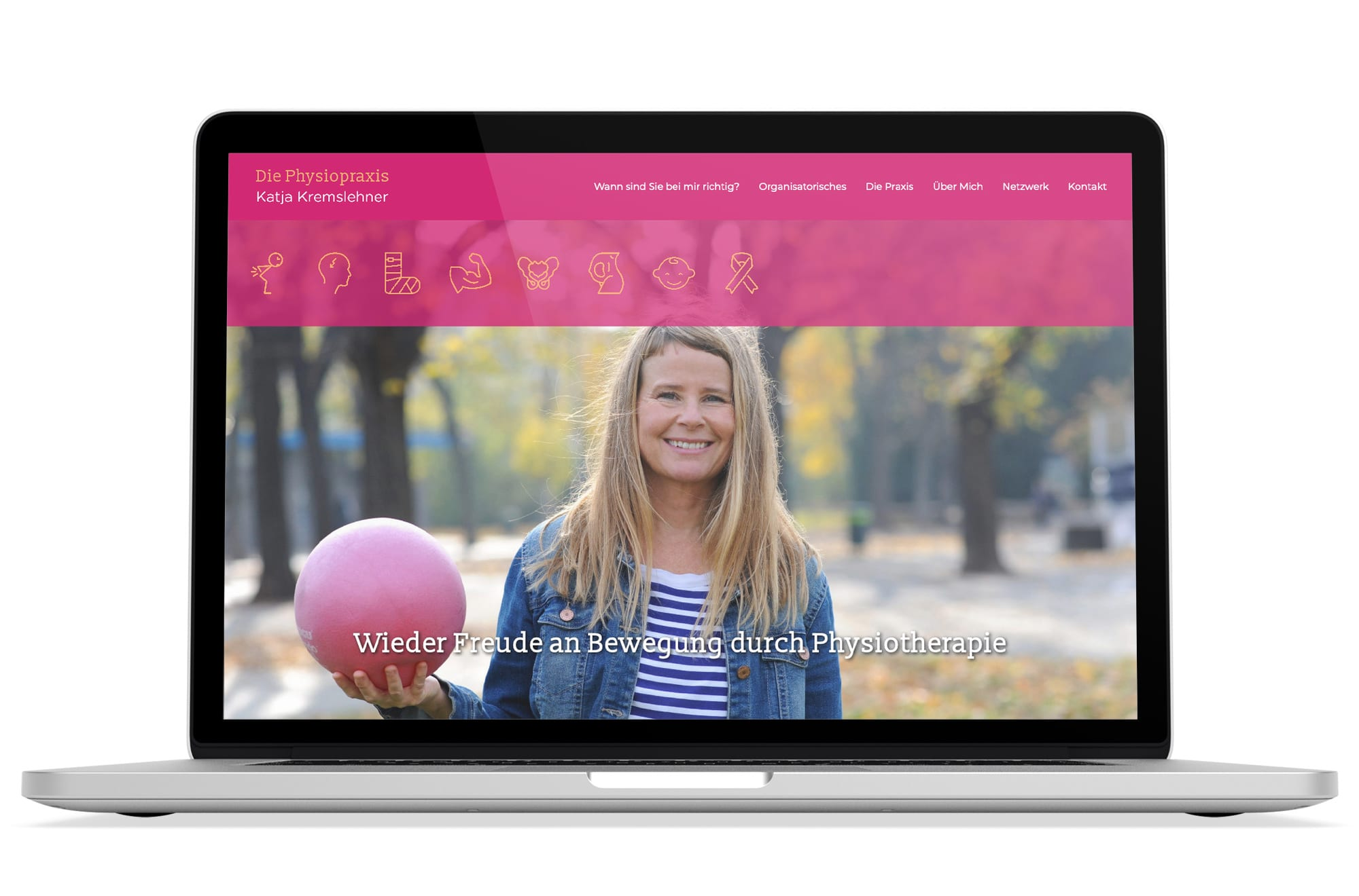 Webdesign Beispiel: Logodesign, Responsive Webdesign, WordPress für Physiotherapie in Wien